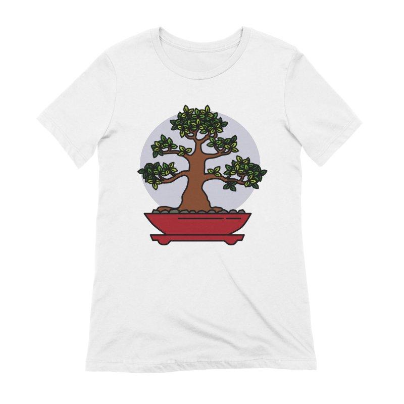 Bonsai Tree - #4 Women's Extra Soft T-Shirt by LadyBaigStudio's Artist Shop
