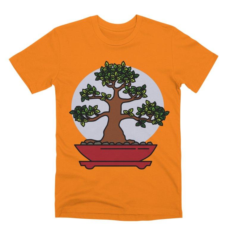 Bonsai Tree - #4 Men's T-Shirt by LadyBaigStudio's Artist Shop