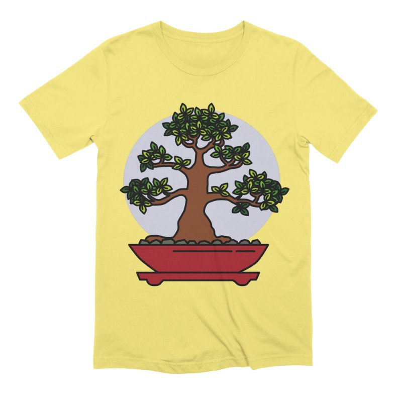 Bonsai Tree - #4 Men's Extra Soft T-Shirt by LadyBaigStudio's Artist Shop