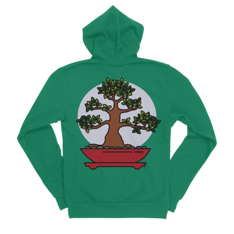 Bonsai Tree - #4 Men's Sponge Fleece Zip-Up Hoody by LadyBaigStudio's Artist Shop
