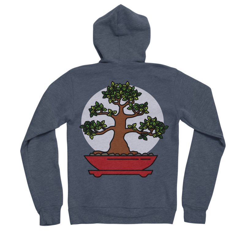 Bonsai Tree - #4 Women's Sponge Fleece Zip-Up Hoody by LadyBaigStudio's Artist Shop