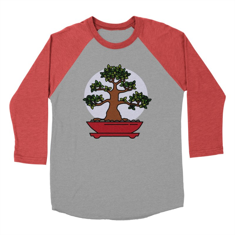 Bonsai Tree - #4 Women's Baseball Triblend Longsleeve T-Shirt by LadyBaigStudio's Artist Shop