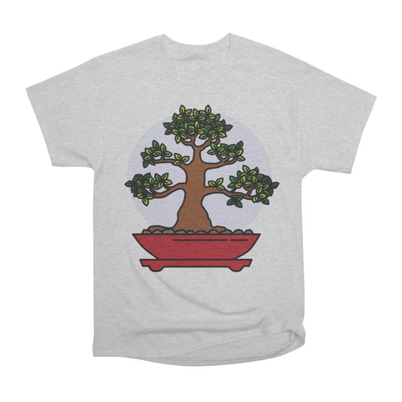 Bonsai Tree - #4 Women's Heavyweight Unisex T-Shirt by LadyBaigStudio's Artist Shop