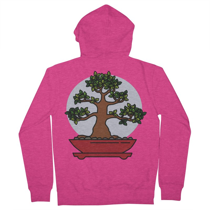 Bonsai Tree - #4 Women's French Terry Zip-Up Hoody by LadyBaigStudio's Artist Shop