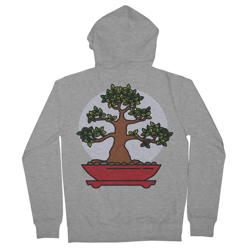 Bonsai Tree - #4 Men's French Terry Zip-Up Hoody by LadyBaigStudio's Artist Shop