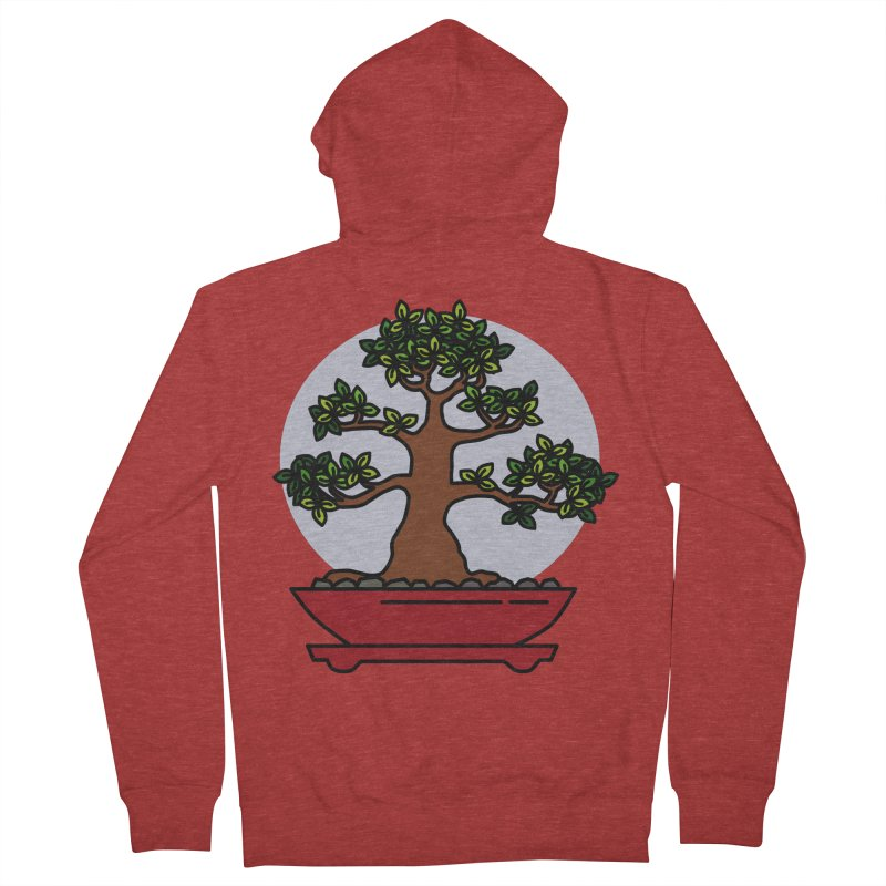 Bonsai Tree - #4 Men's French Terry Zip-Up Hoody by LadyBaigStudio's Artist Shop