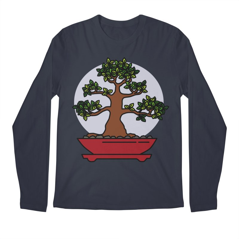 Bonsai Tree - #4 Men's Regular Longsleeve T-Shirt by LadyBaigStudio's Artist Shop