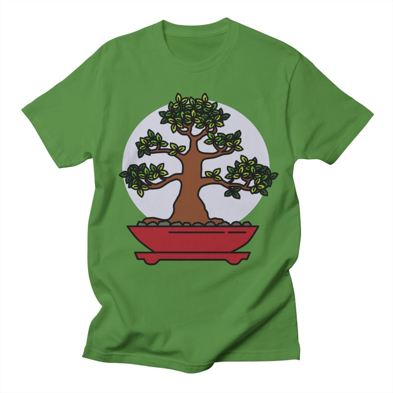 Bonsai Tree - #4 Men's Regular T-Shirt by LadyBaigStudio's Artist Shop