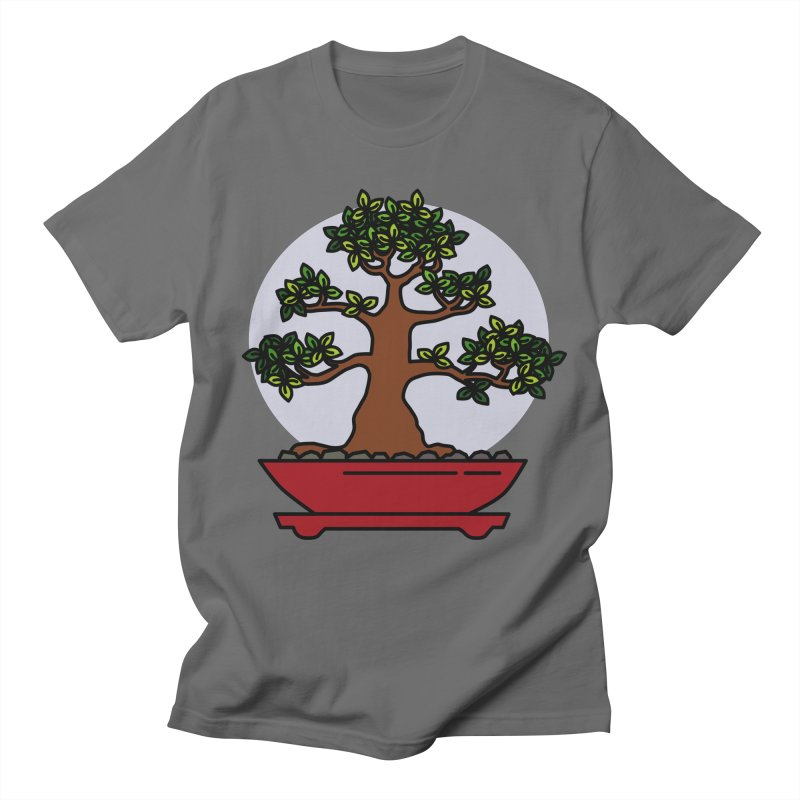 Bonsai Tree - #4 Men's T-Shirt by LadyBaigStudio's Artist Shop
