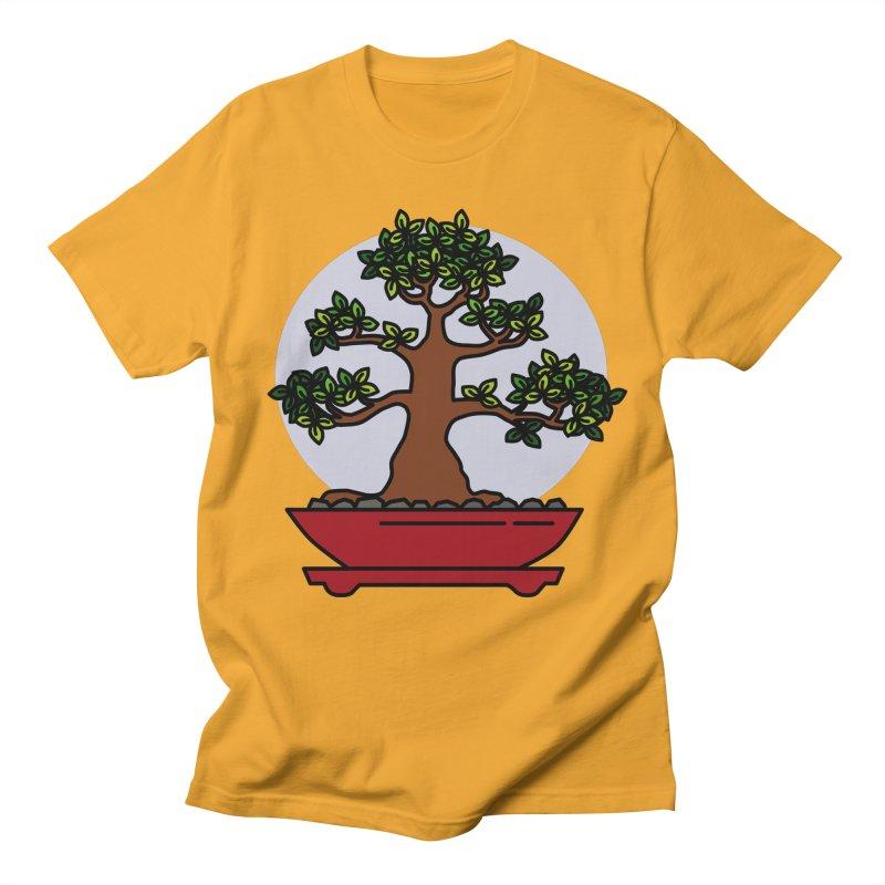 Bonsai Tree - #4 Men's Regular T-Shirt by LadyBaigStudio's Artist Shop