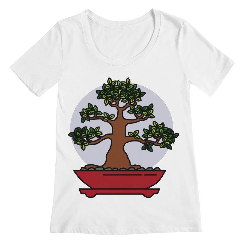 Bonsai Tree - #4 Women's Regular Scoop Neck by LadyBaigStudio's Artist Shop