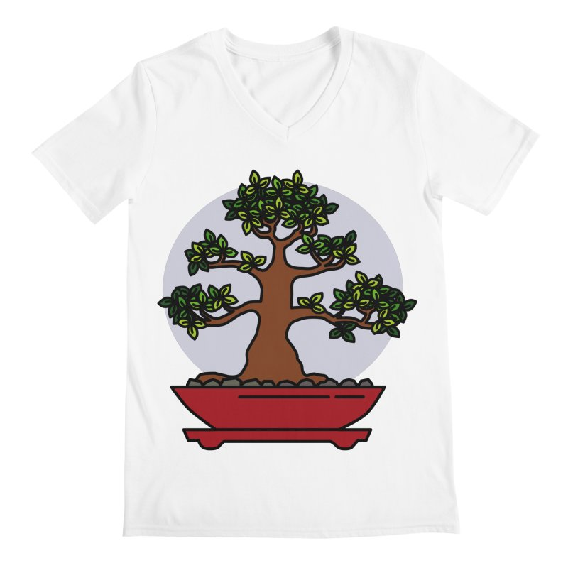 Bonsai Tree - #4 Men's V-Neck by LadyBaigStudio's Artist Shop