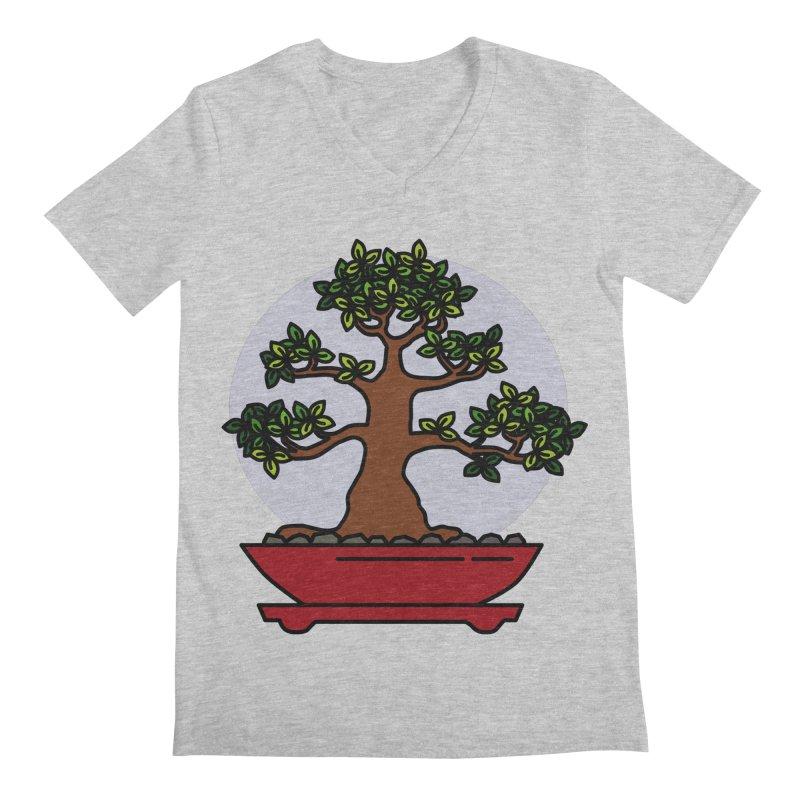 Bonsai Tree - #4 Men's V-Neck by LadyBaigStudio's Artist Shop