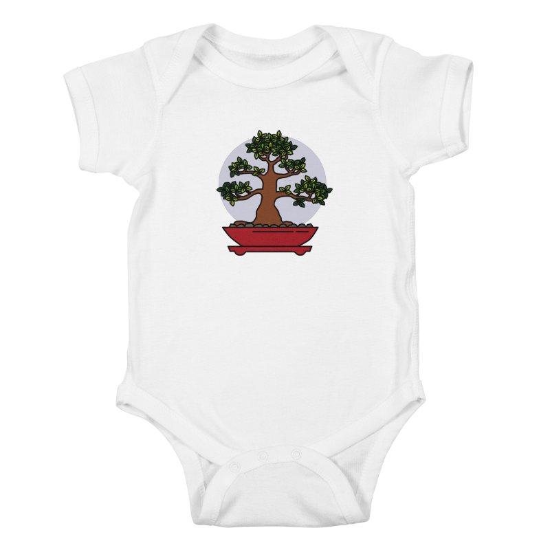 Bonsai Tree - #4 Kids Baby Bodysuit by LadyBaigStudio's Artist Shop