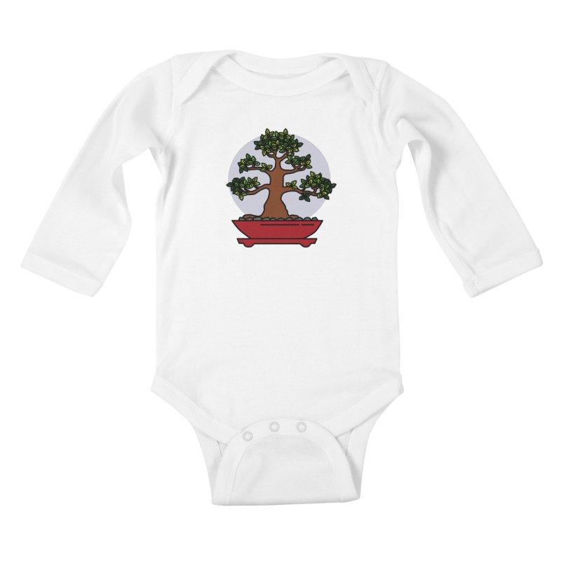 Bonsai Tree - #4 Kids Baby Longsleeve Bodysuit by LadyBaigStudio's Artist Shop