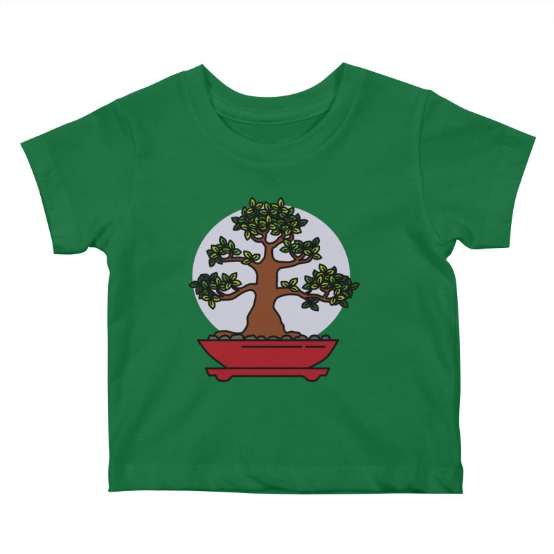 Bonsai Tree - #4 Kids Baby T-Shirt by LadyBaigStudio's Artist Shop