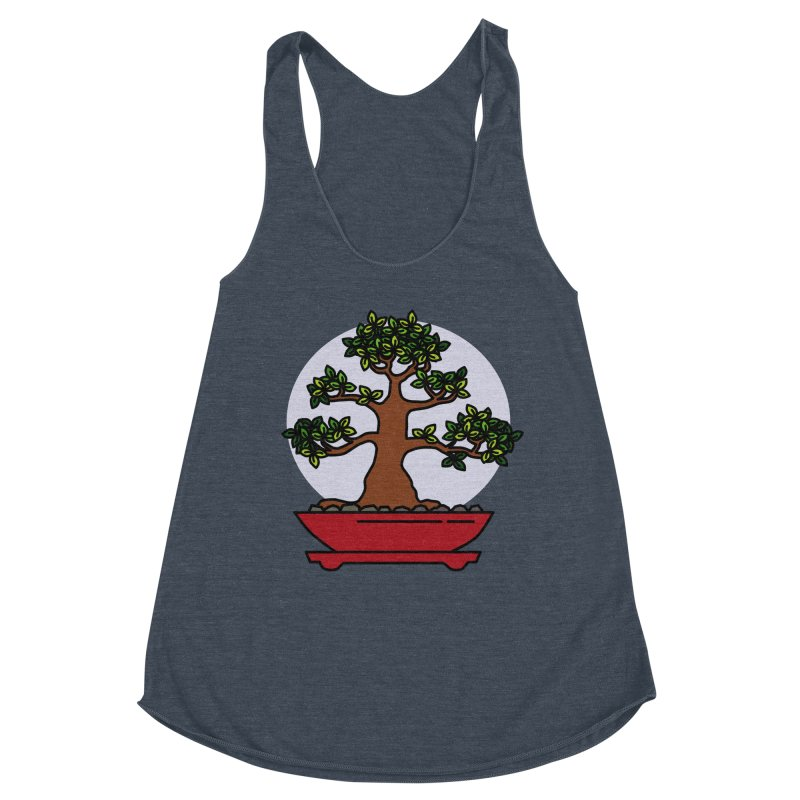 Bonsai Tree - #4 Women's Racerback Triblend Tank by LadyBaigStudio's Artist Shop