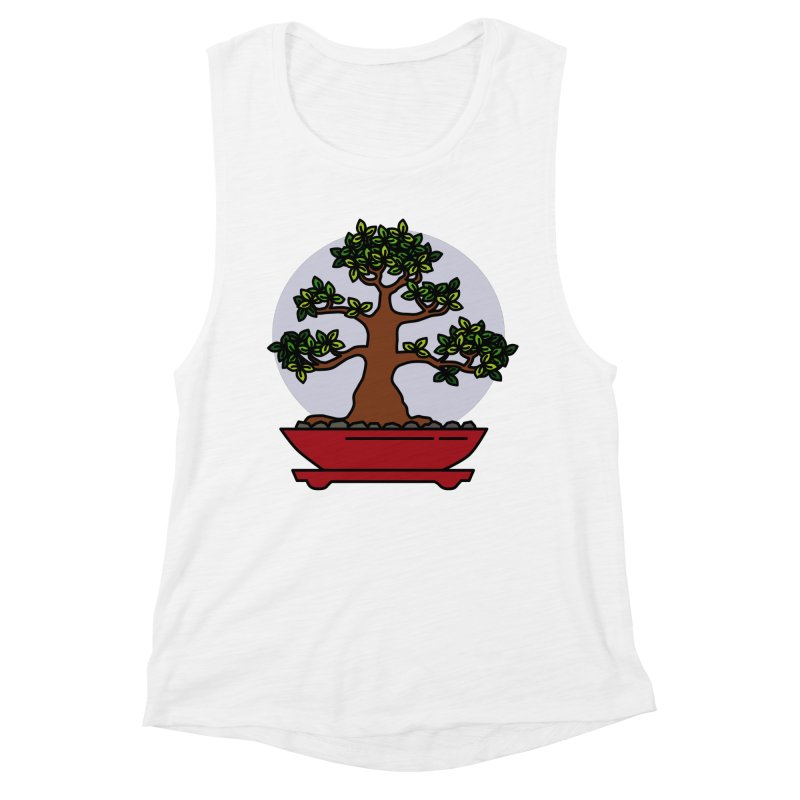 Bonsai Tree - #4 Women's Muscle Tank by LadyBaigStudio's Artist Shop