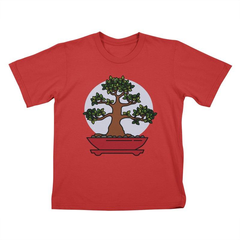 Bonsai Tree - #4 Kids T-Shirt by LadyBaigStudio's Artist Shop