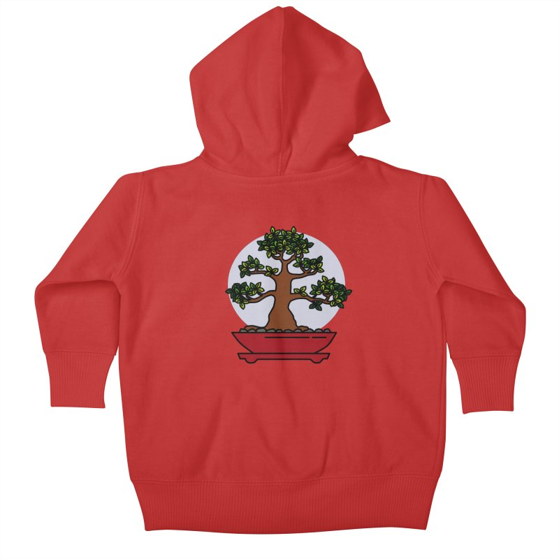 Bonsai Tree - #4 Kids Baby Zip-Up Hoody by LadyBaigStudio's Artist Shop