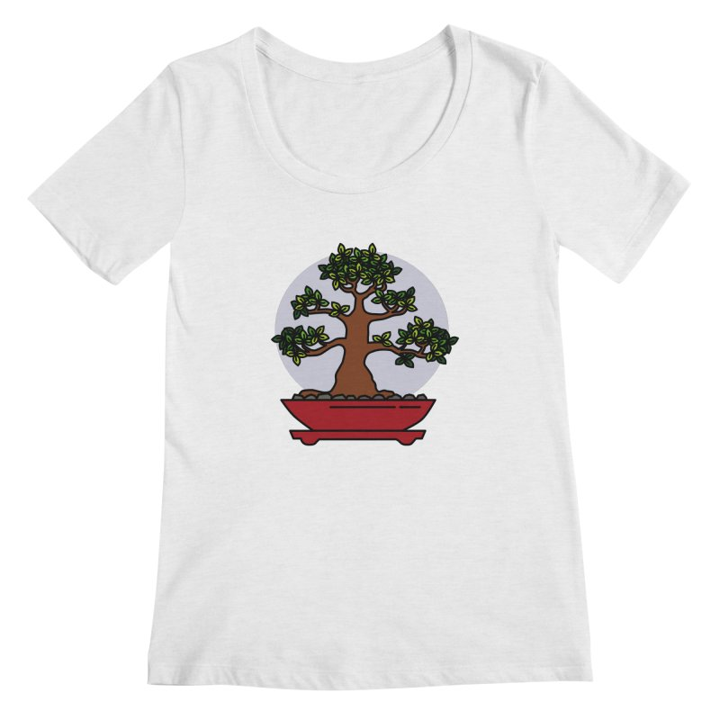 Bonsai Tree - #4 Women's Regular Scoop Neck by LadyBaigStudio's Artist Shop