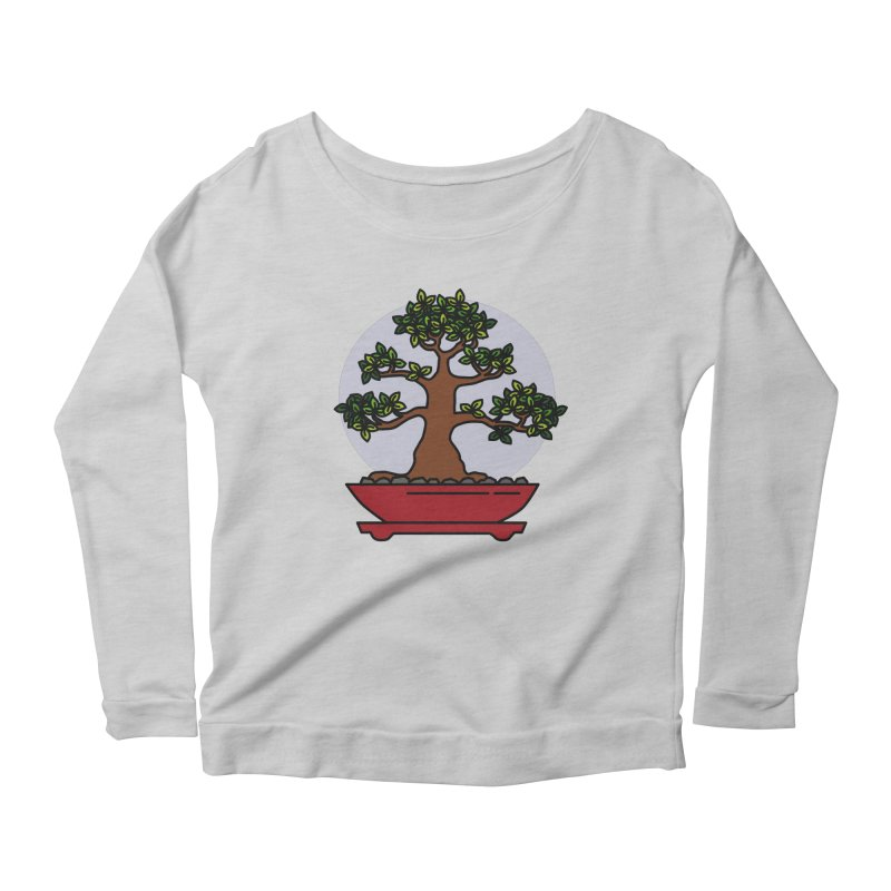 Bonsai Tree - #4 Women's Scoop Neck Longsleeve T-Shirt by LadyBaigStudio's Artist Shop