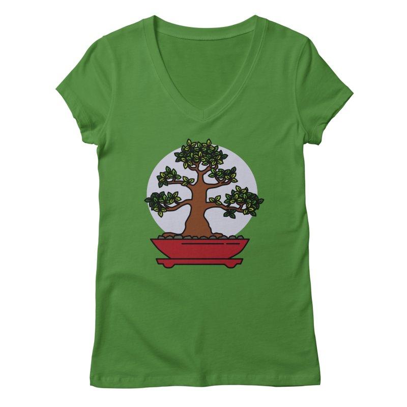 Bonsai Tree - #4 Women's Regular V-Neck by LadyBaigStudio's Artist Shop