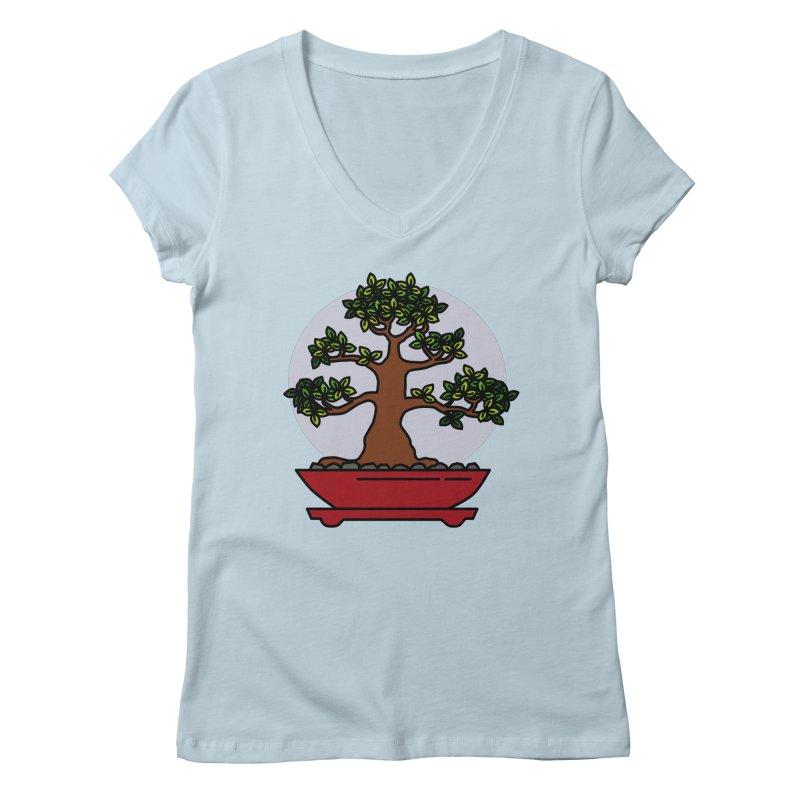 Bonsai Tree - #4 Women's V-Neck by LadyBaigStudio's Artist Shop