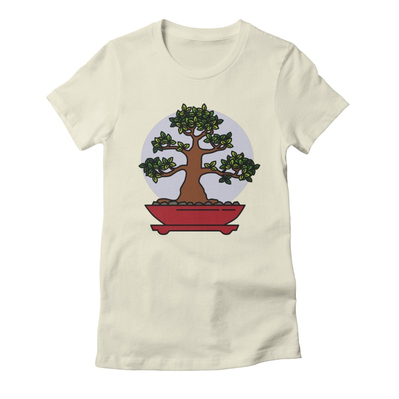 Bonsai Tree - #4 Women's Fitted T-Shirt by LadyBaigStudio's Artist Shop