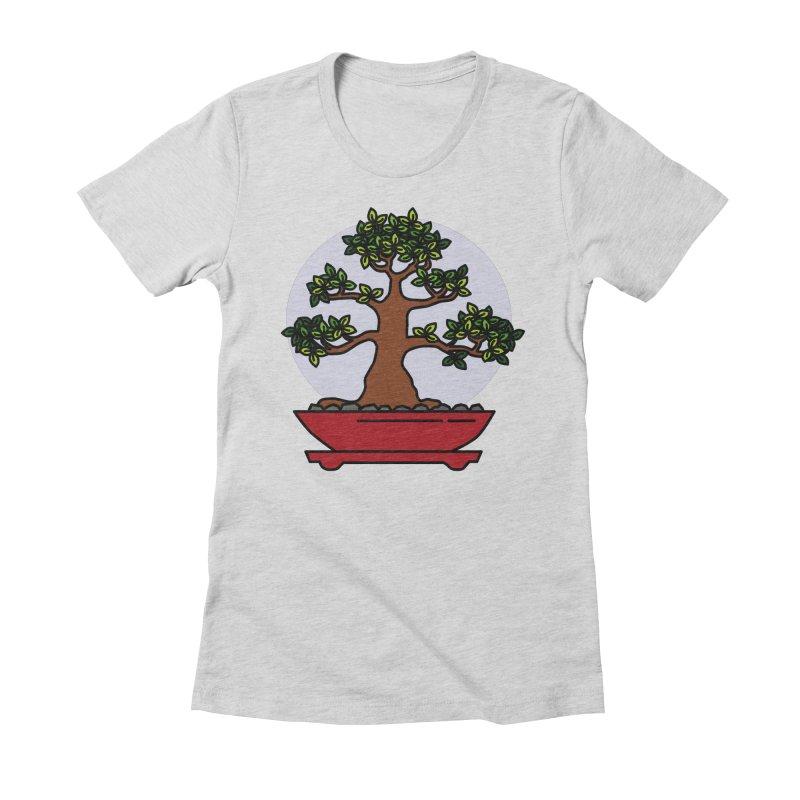 Bonsai Tree - #4 Women's Fitted T-Shirt by LadyBaigStudio's Artist Shop