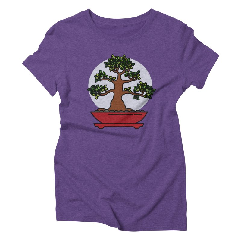 Bonsai Tree - #4 Women's Triblend T-Shirt by LadyBaigStudio's Artist Shop