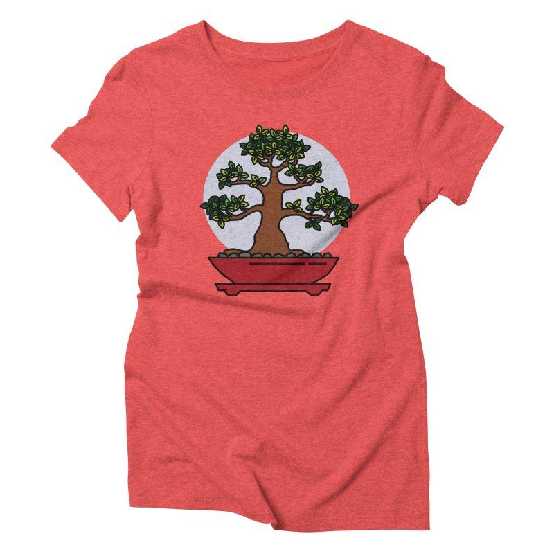 Bonsai Tree - #4 Women's Triblend T-Shirt by LadyBaigStudio's Artist Shop