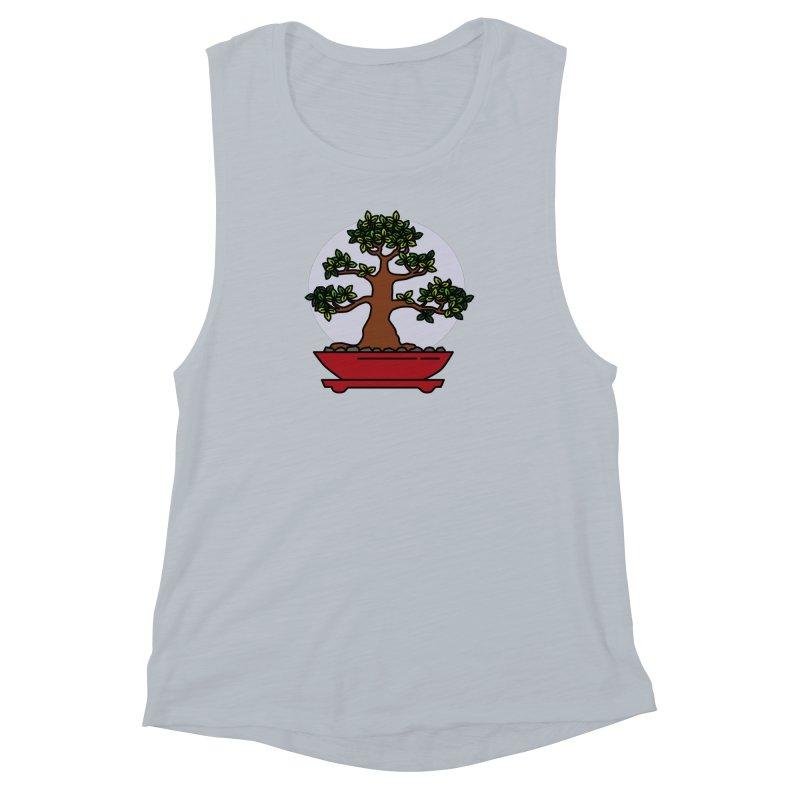 Bonsai Tree - #4 Women's Muscle Tank by LadyBaigStudio's Artist Shop