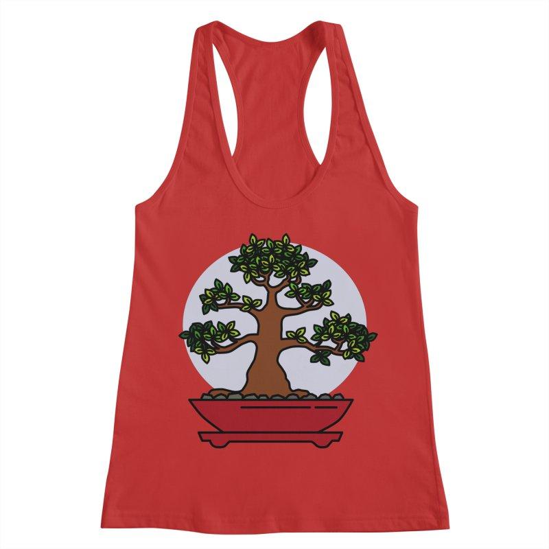 Bonsai Tree - #4 Women's Racerback Tank by LadyBaigStudio's Artist Shop