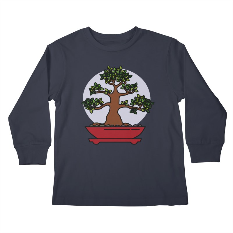 Bonsai Tree - #4 Kids Longsleeve T-Shirt by LadyBaigStudio's Artist Shop