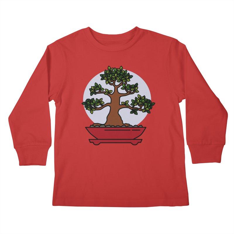 Bonsai Tree - #4 Kids Longsleeve T-Shirt by LadyBaigStudio's Artist Shop