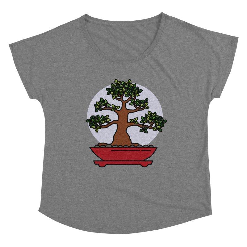 Bonsai Tree - #4 Women's Scoop Neck by LadyBaigStudio's Artist Shop