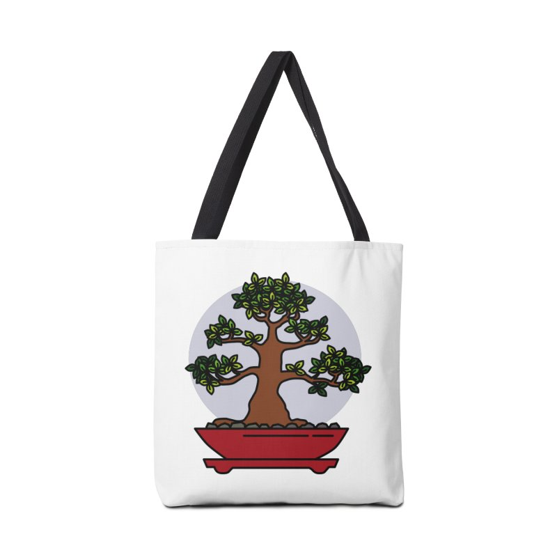 Bonsai Tree - #4 Accessories Tote Bag Bag by LadyBaigStudio's Artist Shop