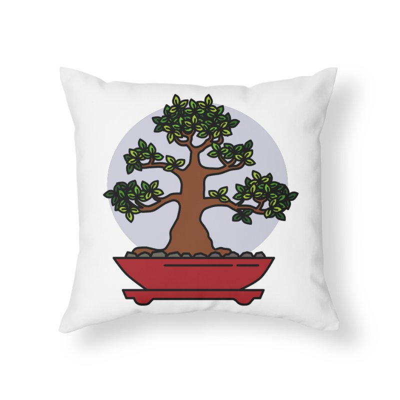 Bonsai Tree - #4 Home Throw Pillow by LadyBaigStudio's Artist Shop