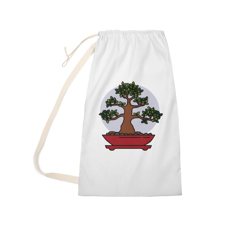 Bonsai Tree - #4 Accessories Laundry Bag Bag by LadyBaigStudio's Artist Shop