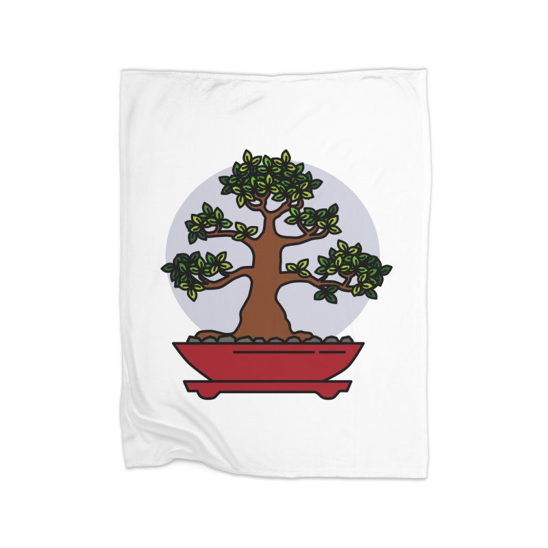 Bonsai Tree - #4 Home Fleece Blanket Blanket by LadyBaigStudio's Artist Shop