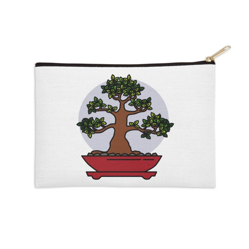 Bonsai Tree - #4 Accessories Zip Pouch by LadyBaigStudio's Artist Shop
