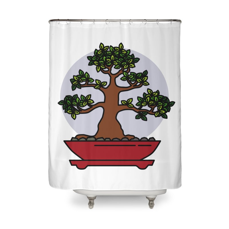 Bonsai Tree - #4 Home Shower Curtain by LadyBaigStudio's Artist Shop
