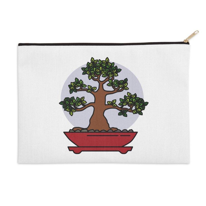 Bonsai Tree - #4 Accessories Zip Pouch by LadyBaigStudio's Artist Shop
