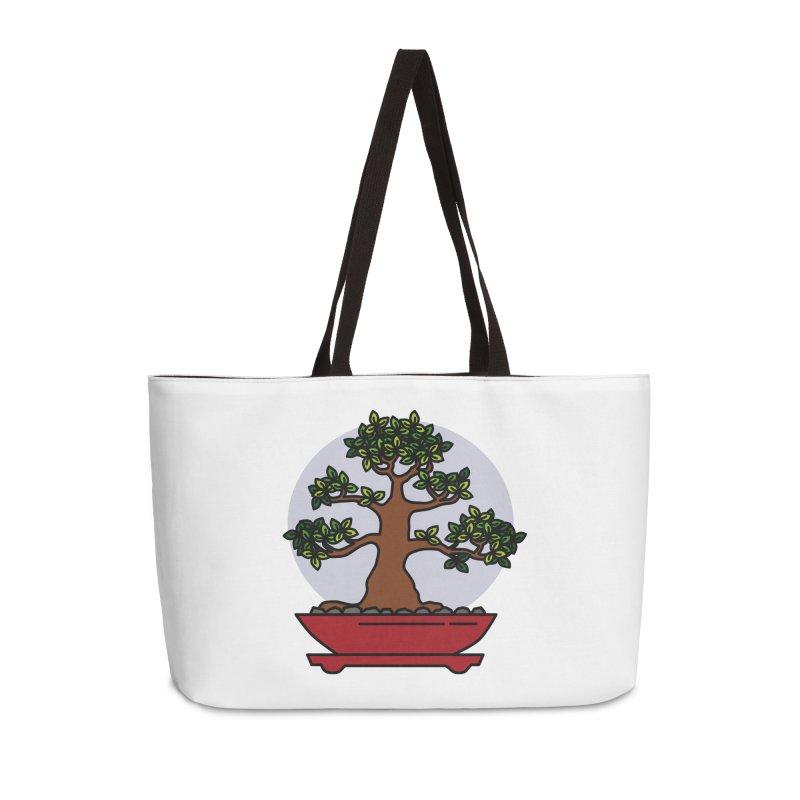 Bonsai Tree - #4 Accessories Weekender Bag Bag by LadyBaigStudio's Artist Shop