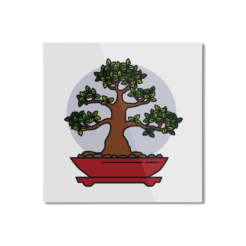 Bonsai Tree - #4 Home Mounted Aluminum Print by LadyBaigStudio's Artist Shop