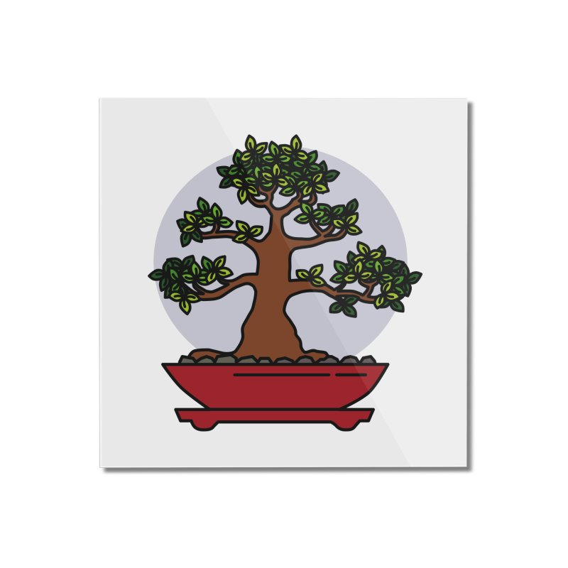 Bonsai Tree - #4 Home Mounted Acrylic Print by LadyBaigStudio's Artist Shop