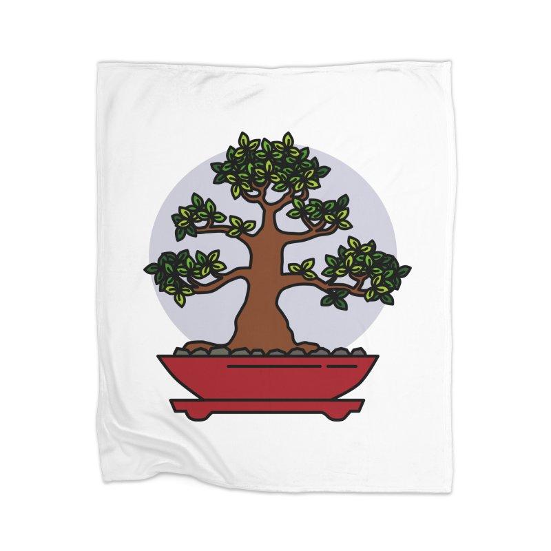 Bonsai Tree - #4 Home Blanket by LadyBaigStudio's Artist Shop