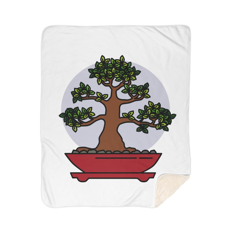 Bonsai Tree - #4 Home Sherpa Blanket Blanket by LadyBaigStudio's Artist Shop
