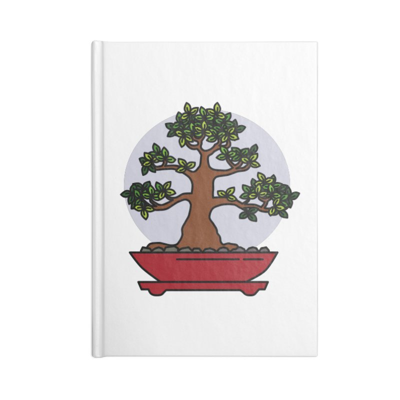 Bonsai Tree - #4 Accessories Blank Journal Notebook by LadyBaigStudio's Artist Shop